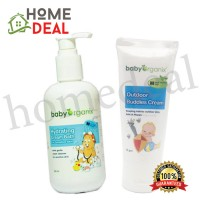 Baby Organix Outdoor Buddies Cream + Baby Organix Hydrating Cream Bath 250ml (Baby Organix户外护肤霜 + Baby Organix润肤泡泡浴250ml)